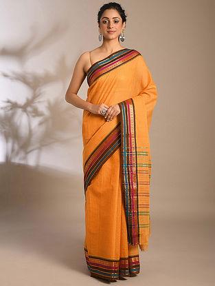 Mustard Handwoven Narayanpet Cotton Saree