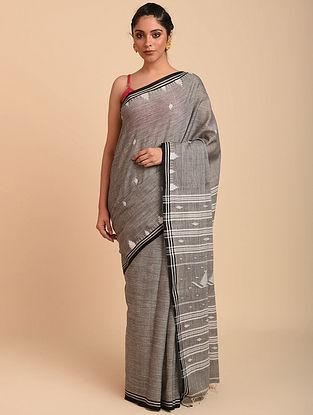 Grey Handwoven Cotton Jamdani Saree