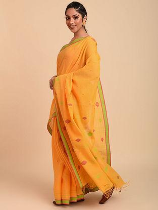 Yellow Jamdani Cotton Saree