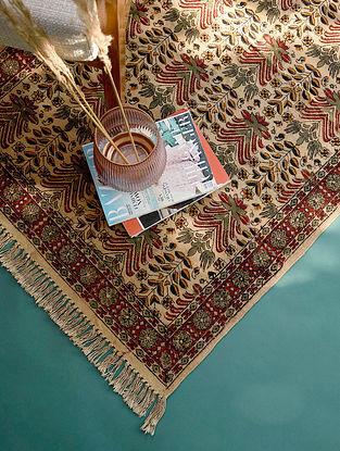 Multicolor Handmade Kalamkari Cotton Rug  (L - 5ft x W - 3ft)