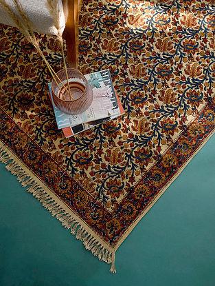 Multicolor Handmade Kalamkari Cotton Rug  (L - 6ft x W - 4ft)