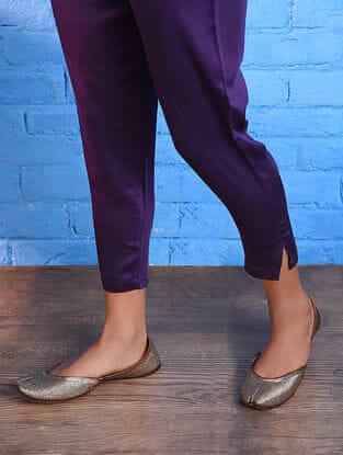 Purple Elasticated Waist Modal Pants