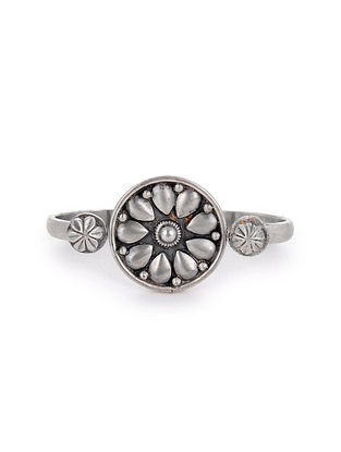 Tribal Silver Adustable Ring