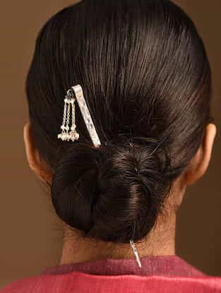 Tribal Silver Juda Pin With Pearl