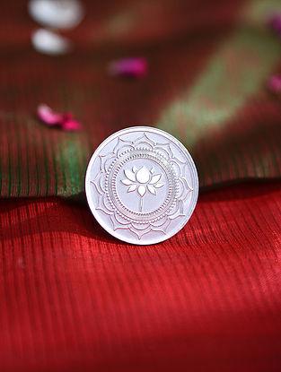 Mandala Art Lotus Silver Coin (10 gms)