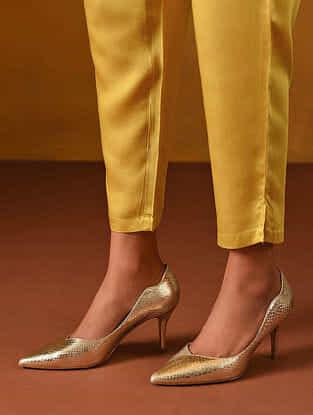 Mustard Yellow Elasticated Waist Modal Pants
