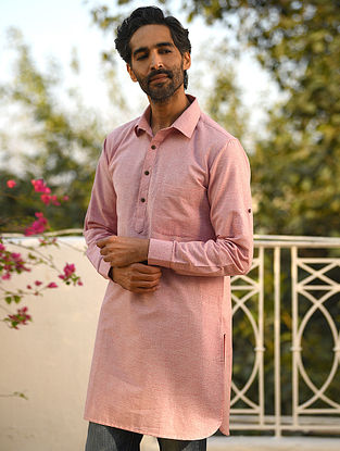 Pink Cotton Short Kurta