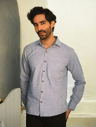 Grey Full Sleeve Cotton Shirt
