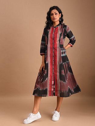 ATIKA - Black Handloom Cotton Gamcha Dress