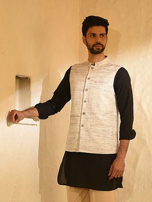 Ivory Viscose Katiya Nehru Jacket