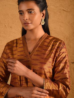 Gold Silk Ikat Kurta
