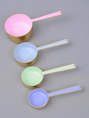Multicolor Stainless Steel Measuring Cups (Set of 4)
