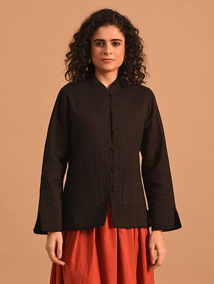 KALAY - Black Cotton Quilted Jacket