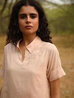 RAYYA - Pink Cotton Mul Embroidered Kurta