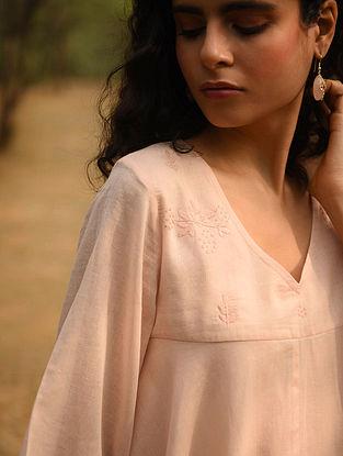 NAIMA - Pink Cotton Mul Embroidered Kurta