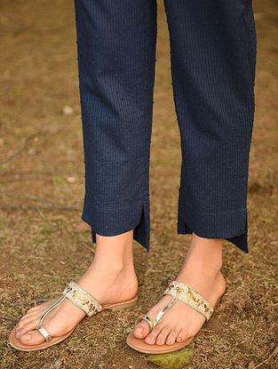 Blue Elasticated Waist Cotton Pants