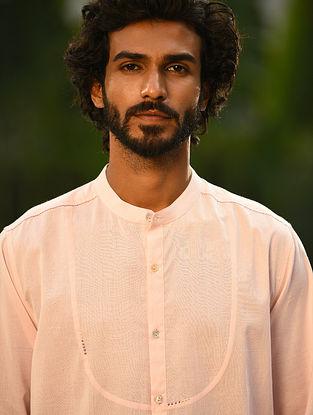 Pink Handspun and Handwoven Cotton Full Sleeve Shirt