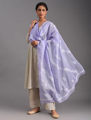 Purple Chikankari  Kota Cotton Dupatta