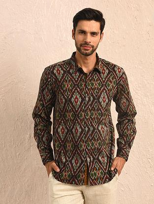 Multicolor Ikat Cotton Full Sleeve Shirt