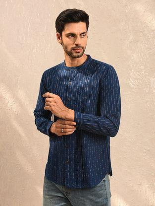 Blue Ikat Cotton Full Sleeve Shirt