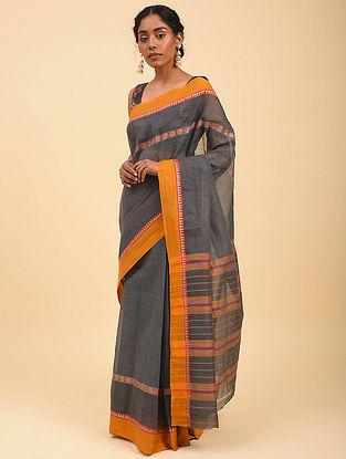 Grey Handwoven Narayanpet Cotton Saree