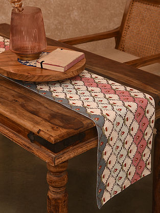 Multicolored Printed Table Runner (L-71in, W-13in)