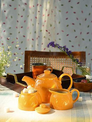 Mustard Ribbed Tea Set (Set of 3)