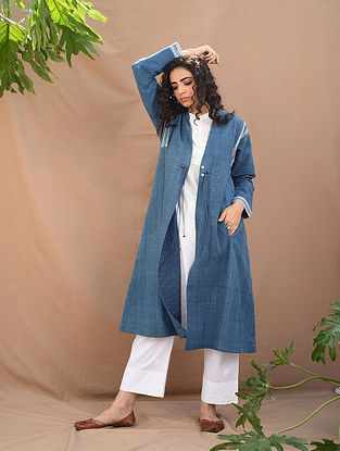 Indigo Natural Dyed Handloom Tangaliya Cape
