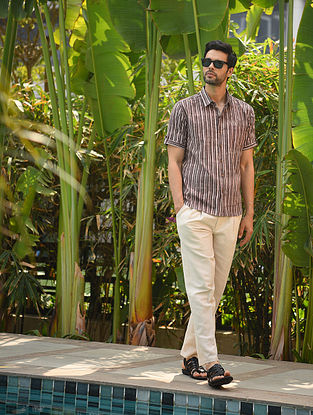 Multicolor Block Printed Cotton Half Sleeve Shirt