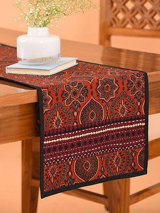 Multicolor Cotton Gudri Embroidered Ajrakh Printed Table Runner