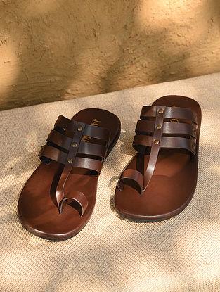 Brown Handcrafted Genuine Leather Kolhapuri for Men