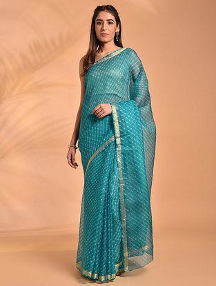 Blue Leheriya Kota Silk Saree