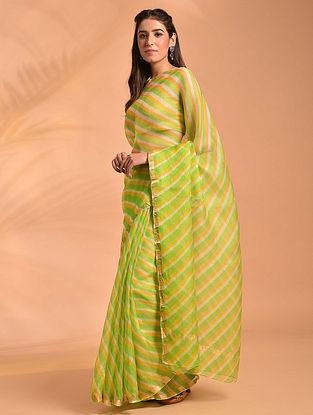 Green Leheriya Kota Silk Saree