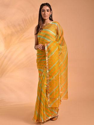 Yellow Leheriya Kota Silk Saree