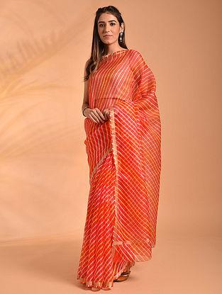 Orange Leheriya Kota Silk Saree