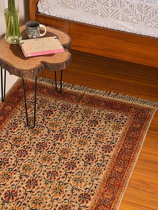 Multicolor Handmade Kalamkari Cotton Rug (L - 5ft, W - 3ft)