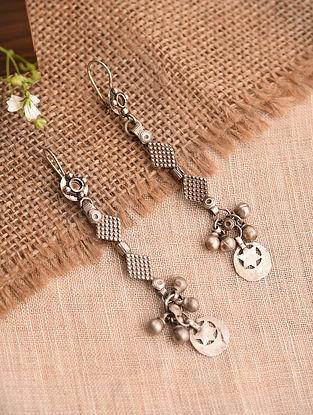 Vintage Afghan Silver Earrings