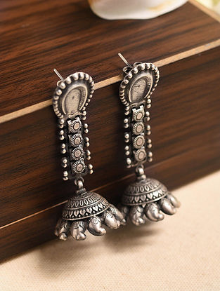 Tribal Silver Jhumki Earrings