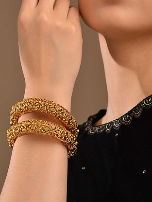 Gold Tone Temple Work Bangles