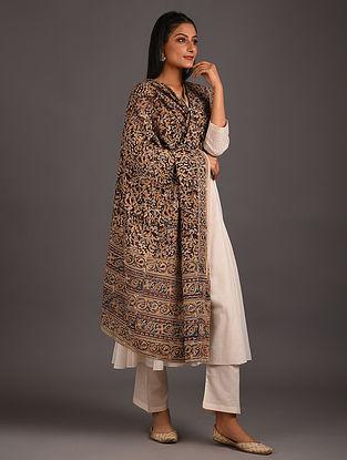 Multicolored Kalamkari Block Printed Cotton Dupatta