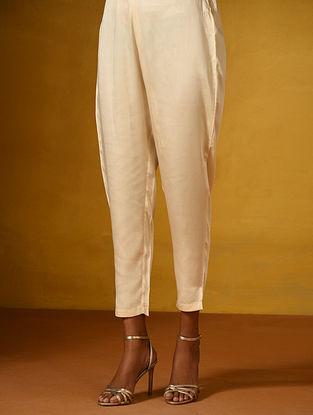 Ivory Elasticated Waist Modal Pants