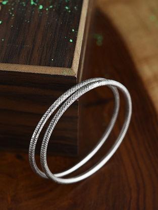 Tribal Silver Bangles (Size: 2/4)