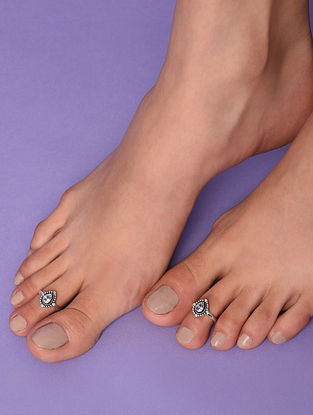 Tribal Silver Toe Rings