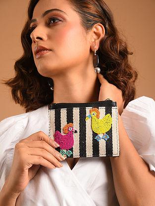 Multicolored Beaded Jacquard Card Case