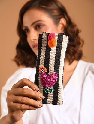 Multicolored Beaded Jacquard Spectacle Case