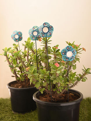 Multicolored Handcrafted Ceramic Planter Accessories (Set of 4)