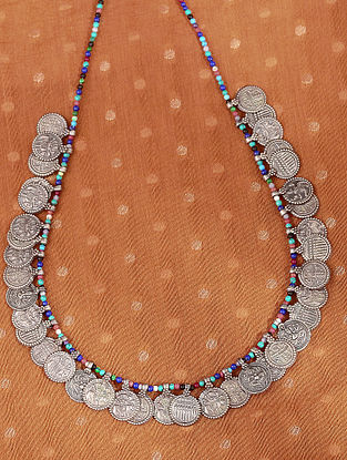 Multicolour Tribal Silver Necklace