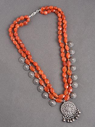 Carnelian Tribal Silver Necklace