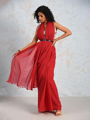 Red Handwoven Cotton Saree