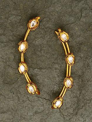 Gold Tone Kundan Ear Cuffs